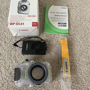 Canon WP-DC41 underwater camera case and Canon ELPH 300 HS for Sale in Yorba Linda, CA