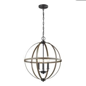 Sea Gull Lighting 18 in. W 3-Light Rustic Farmhouse Chandelier with Globe Accents for Sale in Dallas, TX