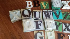 Free Brand new Wooden Alphabets and other kids items for Sale in Woodbridge, VA