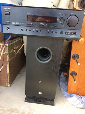 Onkyo receiver in subwoofer for Sale in Nashville, TN