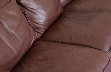 Real Leather Couch for Sale in Hingham,  MA