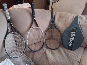 (3) Tennis Rackets - (2) Wilson (1) Prince for Sale in Phoenix, AZ