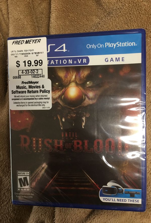 Rush of Blood Until Dawn PS4 sealed