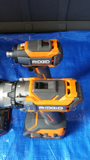 $220. Ridgid Gen5X Hammer drill/Impact Drive with Batteries and charger for Sale in Evergreen, CO