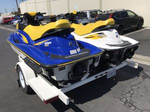 2006 & 2007 Sea Doo GTI SE with 53 and 65 hours 2003 Zieman trailer clean title current registration for Sale in Orange, CA