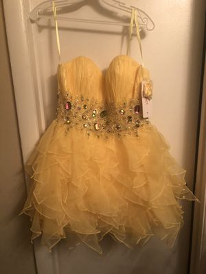 Medium Canary Yellow Party/Prom Dress Tag Still On for Sale in Atlanta, GA