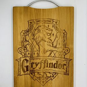 Harry potter gryffindor laser engraved bamboo high quality cuttingboard kitchen pop for Sale in Los Angeles, CA