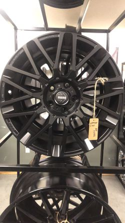 BRAND NEW set (4) Matte Black MoMo 18 inch rims for only $800!!! for Sale in Tacoma,  WA