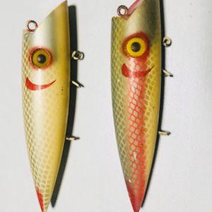 2 Vintage Wooden Fishing Lures ( Plugs) for Sale in Glendale Heights, IL