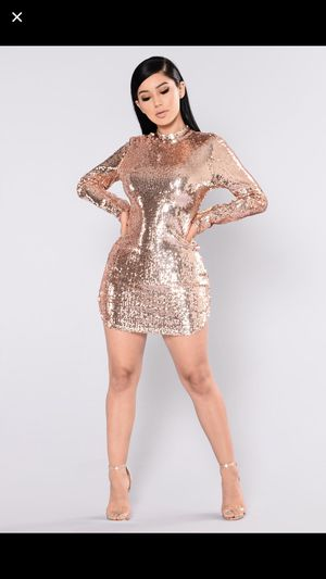Rose gold sequin dress for Sale in Philadelphia, PA