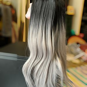 Lace front Wig Black To Gray Ombré Hair for Sale in San Diego, CA