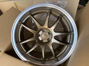 18x8.5 9.5 new bronze rims tires set 6x114.3 5x100 for Sale in Hayward, CA