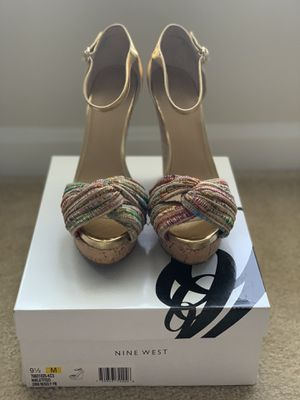 Multicolored and Gold Cork Platform Wedge Sandals for Sale in North Bethesda, MD