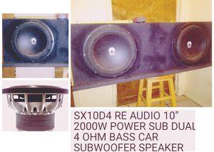 """RE AUDIO 10"""" SPEAKERS 3.5FT CUSTOM BOX ESPECIAL for Sale in Turlock, CA"""