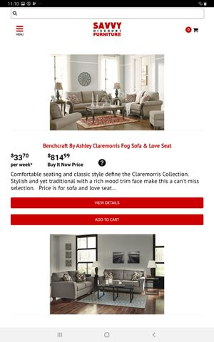 Benchcraft by Ashley Claremorris Fog Sofa and Loveseat Set for Sale in Farmers Branch, TX