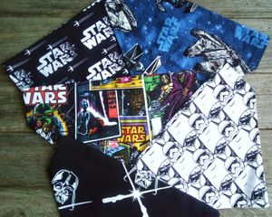 Star Wars Slip On Over The Collar Dog Bandanas Set Of 5 Reversible for Sale in Cherryvale, KS