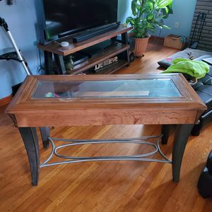 Console Table Wood and Metal for Sale in New Kensington, PA