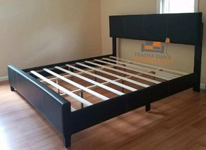 Brand new king size platform bed frame (available in 4 colors) for Sale in Silver Spring, MD