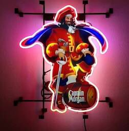 """Captain Morgan Rum Pub Bar Sign 19""""x15"""" Does not work!!! Wire is cut just use as a display!!!$40 obo for Sale in Fontana, CA"""