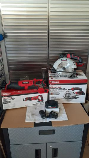 Hyper Tough 20v Cordless Circular Saw & Reciprocating Saw Set New (Price is Firm) for Sale in Gardena, CA