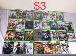 Collection of Xbox 360 Video Games for $3 Each for Sale in Odenton, MD