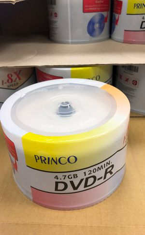 Blank DVD-R 4.7gb 120 min 1-8x speed (50pcs) for Sale in Whittier, CA