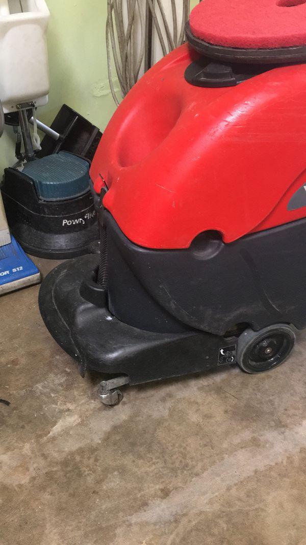 Propane buffer and floor scrubber