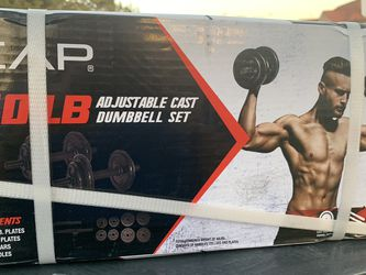 40lb Adjustable Cast IRON Dumbbell Set for Sale in Dallas,  TX