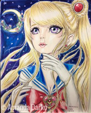 Sailor Moon Drawing for Sale in Warner Robins, GA