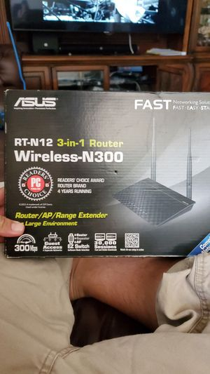 Asus rt-n12 3 in 1 router for Sale in Norco, CA