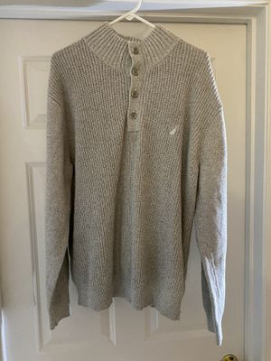 Nautica Pullover Button Up Sweater Grey size XL for Sale in Manassas, VA
