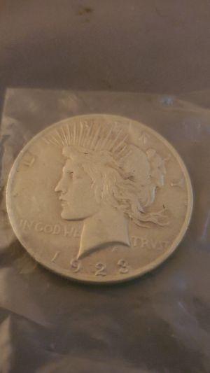 1923 double die peace dollar for Sale in Virginia Beach, VA