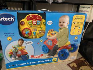 Motorbike toy (red)-VTech 2 In 1 Learn & Zoom Motor Bike for Sale in Elkridge, MD