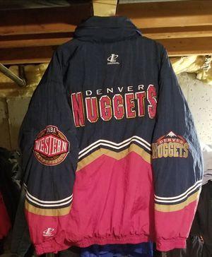 Vintage NBA Denver Nuggets Stitched LoGo Athletic Jacket Size XL X-Large for Sale in Littleton, CO