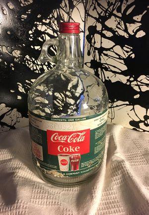 Collectible Coca-Cola 1 Gallon Glass Bottle for Sale in San Antonio, TX