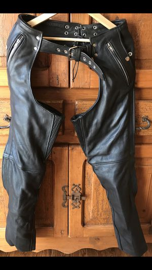 Ladies leather motorcycle chaps - $50 for Sale in Morgantown, WV