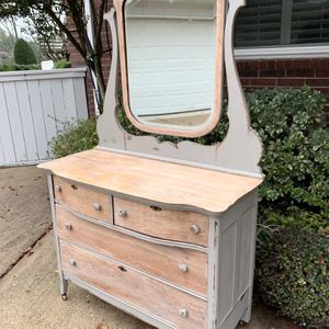 Refinished Antique Dresser With Mirror for Sale in Houston, TX