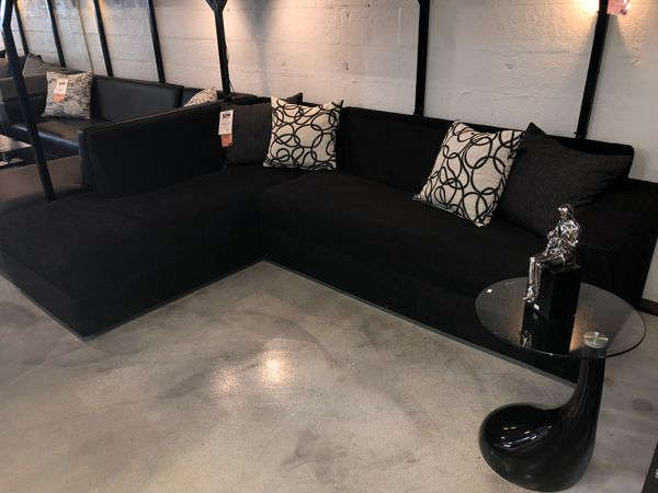 Black 2PC Sectional