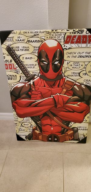 Deadpool Wall Art Canvas for Sale in Ruskin, FL