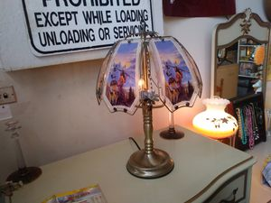 Vintage glass triple bulb dimmable touch lamp for sale for Sale in St. Louis, MO