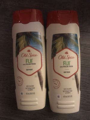 Old spice Fiji w/palm tree body wash $3.50 each for Sale in San Bernardino, CA