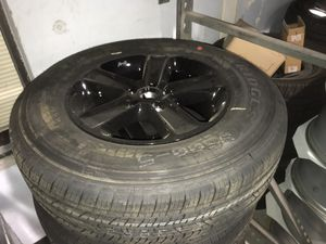 18 inch black Jeep Wrangler wheels for Sale in St. Peters, MO
