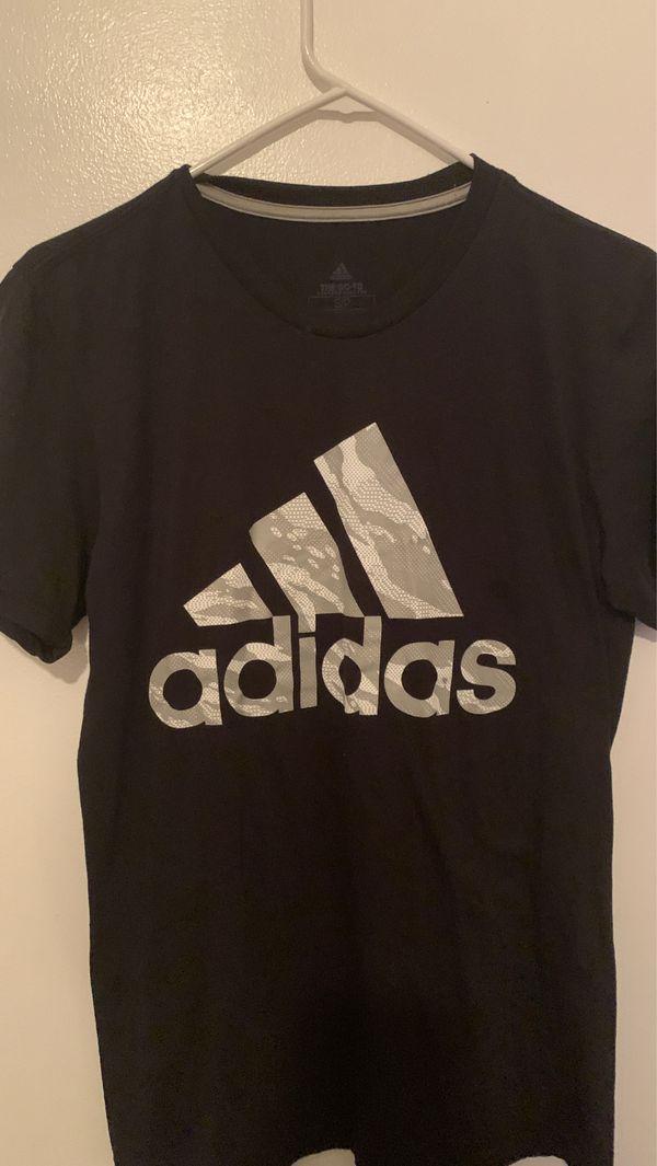 All black adidas shirt