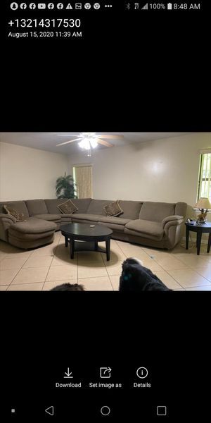 Sectional couch with bed in it.. for Sale in Melbourne, FL