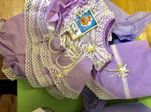 Handmade lilac coming home outfit baby girl NEW for Sale in Holyoke, MA