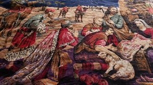 Vintage Nativity Tapestry with Blue Fringe for Sale in Aurora, CO