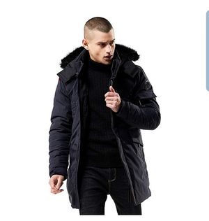 Men's Warm Parka Jacket Anorak Jacket Winter Coat with Detachable Hood Faux-Fur Trim for Sale in Arlington, VA