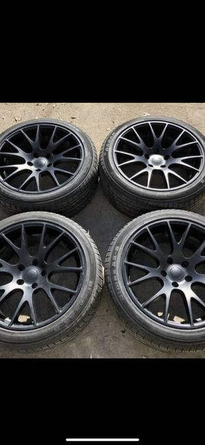 """New 20"""" Black hellcat Rims and New tires 20 Dodge Charger Challenger Wheels 20s Chrysler 300 Rines y Llantas Oem factory's factory original Take offs for Sale in Dallas, TX"""