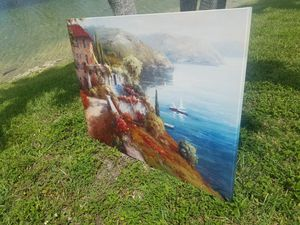 $65.00 - Large Oil Painting on Canvas - Spectacular Colors! for Sale in Miami, FL