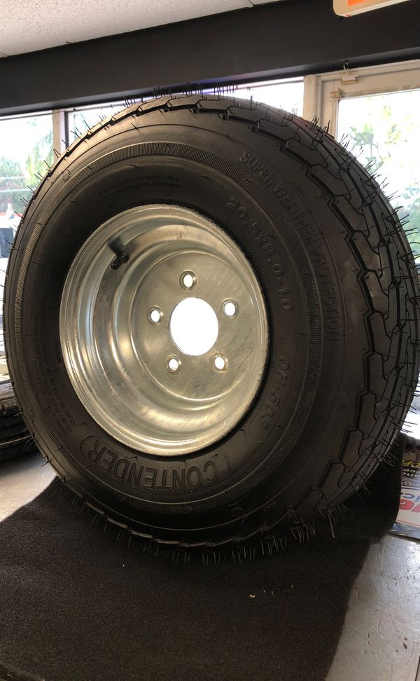 St 20.5x8.0-10 trailer wheel and tire St 205-65-10